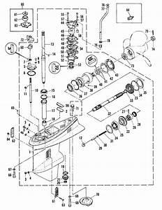 Mariner 60 Hp  2 Cylinder  Gearhousing Ass U0026 39 Y Parts