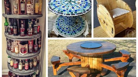 recycled cable spool ideas diy furniture ideas