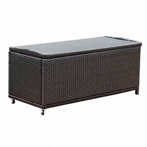 Abbyson living dl rsf006 pasadena large outdoor black for Wicker storage ottoman
