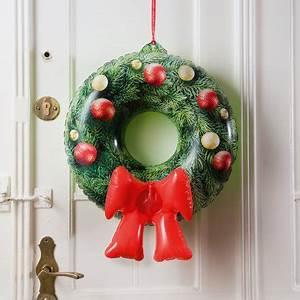 Weihnachtskranz Für Tür : aufblasbarer weihnachtskranz f r die t r online kaufen online shop ~ Markanthonyermac.com Haus und Dekorationen