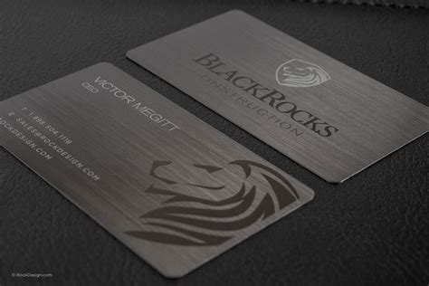 amazing steel card business cards rockdesigncom