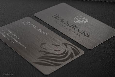 amazing steel card business cards rockdesigncom