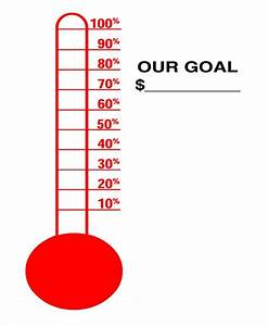 Fundraising Thermometer Excel 10 Sample Thermometer Templates Sample Templates