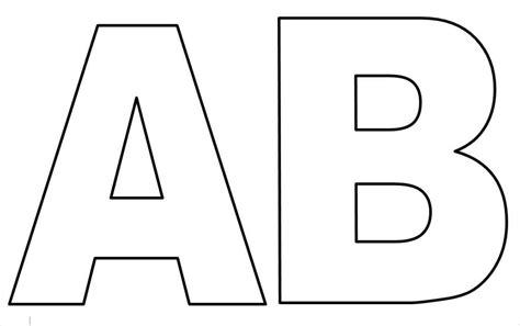 molde de letras grandes para imprimir