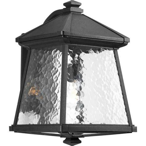 progress lighting mac collection 1 light outdoor black