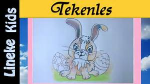Zo teken je een cute paas konijntje in stappen / tekening ...