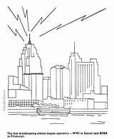 Coloring History Broadcasting Radio Patriotic Timeline Printing Dot Worksheets sketch template
