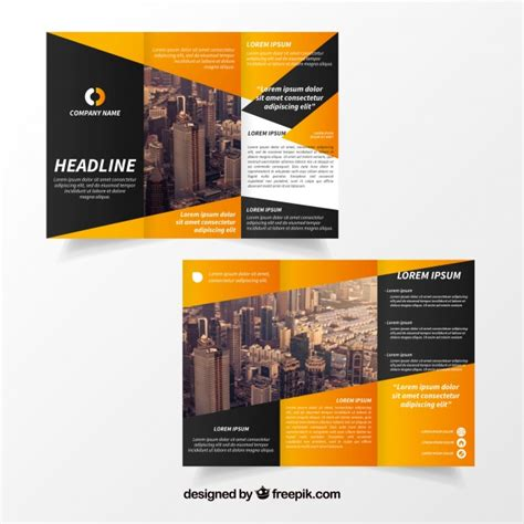 Free Trifold Brochure Templates by Creative Trifold Brochure Template Vector Free
