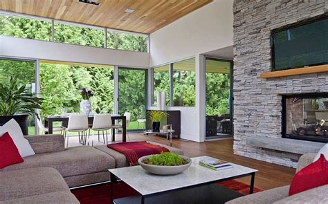 tranquil private forest house  vancouver invites nature indoors