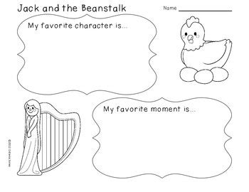 jack and the beanstalk literacy math science activities tpt