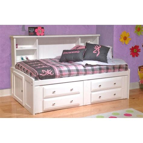 laguna white twin roomsaver storage bed