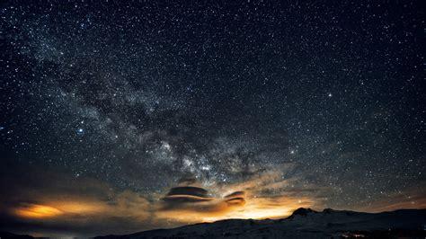 wallpaper night sky   wallpaper  stars night mountains nebula nature