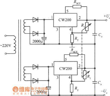Positive Negative Output Voltage Integrated Regulated