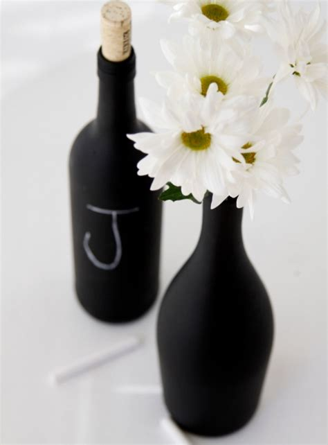 diy chalkboard painted wine bottles  days  homemade