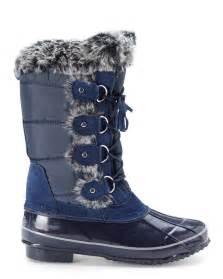 Khombu Snow Boots Navy Blue