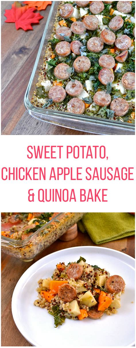 Imagine a sausage made out of chicken that's just as juicy and flavorful as one made from pork, then. Sweet Potato and Chicken Apple Sausage Quinoa Bake