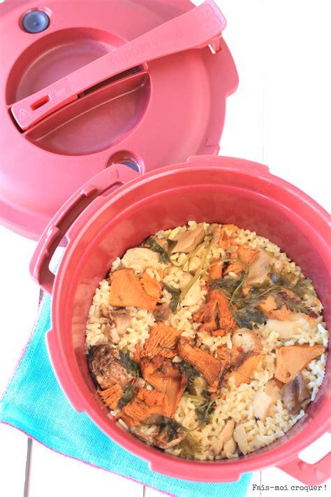 recette de cuisine tupperware risotto aux cèpes et girolles la cocotte révolutionnaire