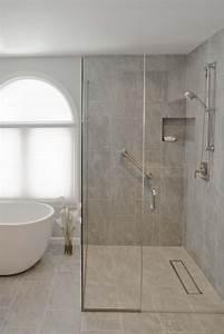 douche a l39italienne encastrable 50 salles de bains With salle de bain avec douche italienne et baignoire