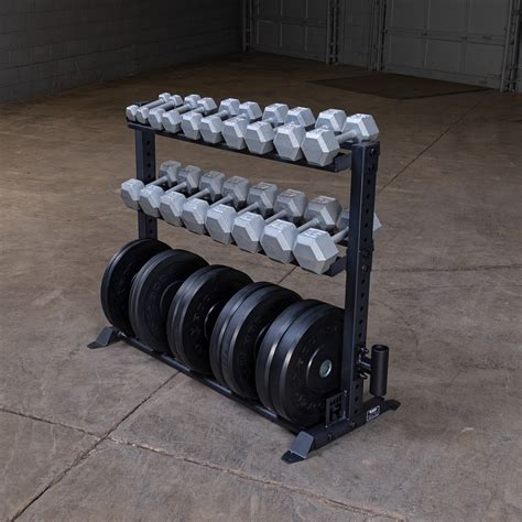 combination weight plate dumbbell rack rugged strength fitness