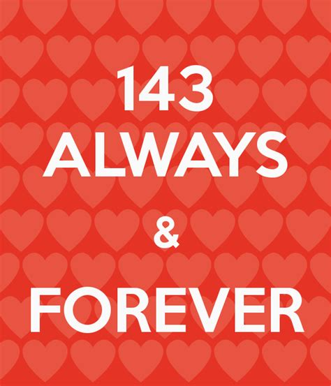 143 Always & Forever Poster  Arnara  Keep Calmomatic