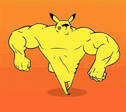 Gifs Ripped Pikachu Buff Strong Pickachu Pokemon