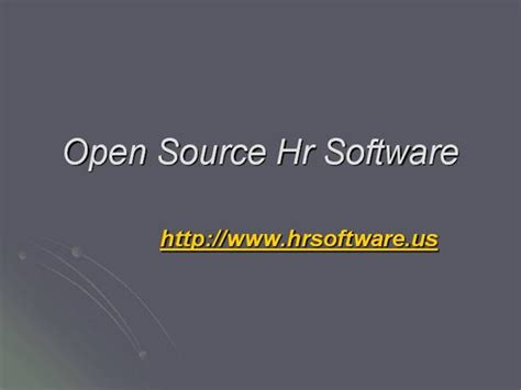 open source hr software human resource management