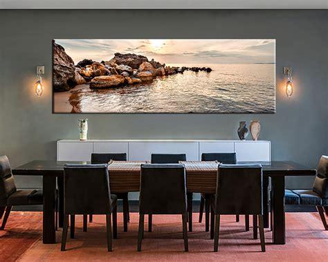 piece brown ocean artwork canvas art prints