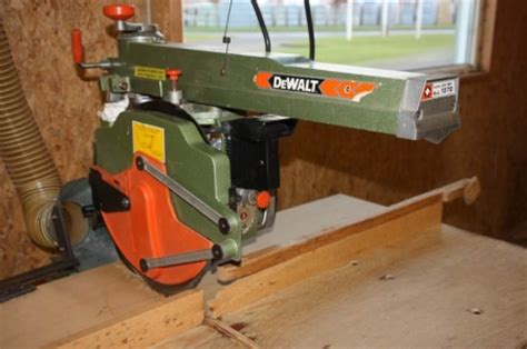 radial arm  dewalt model  kj auktion machine