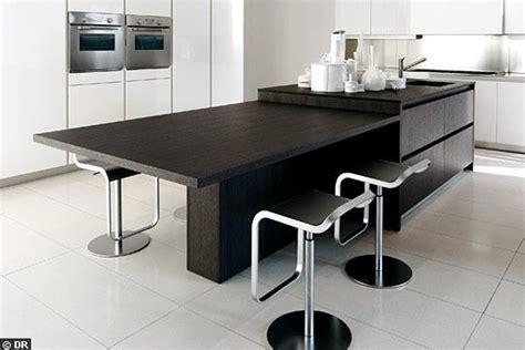 cuisine ilot table idee cuisine ilot un lot de cuisine fait de palettes