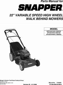 Snapper Nspv22675hw Users Manual Partsmanual