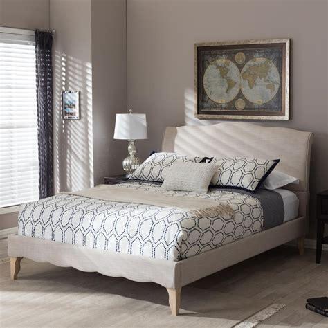 diy bed headboard baxton studio fannie beige king upholstered bed 28862 7013