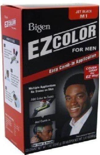 bigen mens jet black hair dye  hair  beard  pack