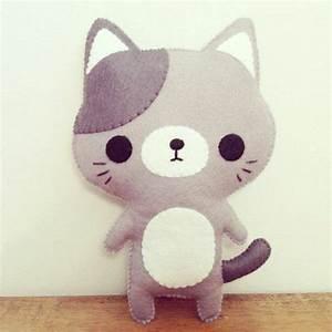 Petit Cadeau à Faire En Couture : 1001 tutoriels et id es de doudou faire soi m me chaton gris cadeau anniversaire et ~ Melissatoandfro.com Idées de Décoration