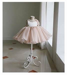 Girly Shop I Chic & Fancy Pearl Applique Flower Girl Dress ...