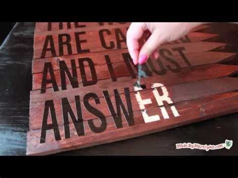 rustic wood sign youtube