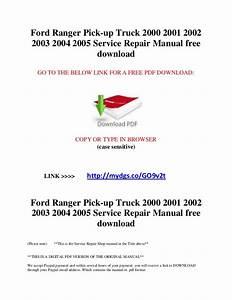 2000 Ford Ranger Service Manual Pdf  U0026gt  Golden