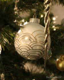 white and gold ornaments eamonn and