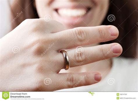 place this wedding ring upon your finger wedding ring women finger stock photo image 18374750