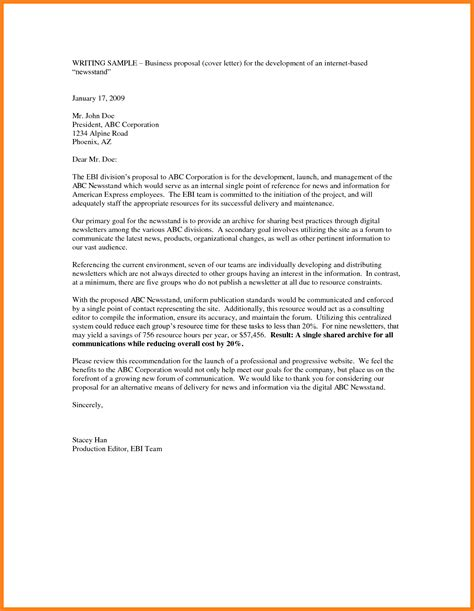 Cover Letter Template Email Format by 5 Email Business Template Project