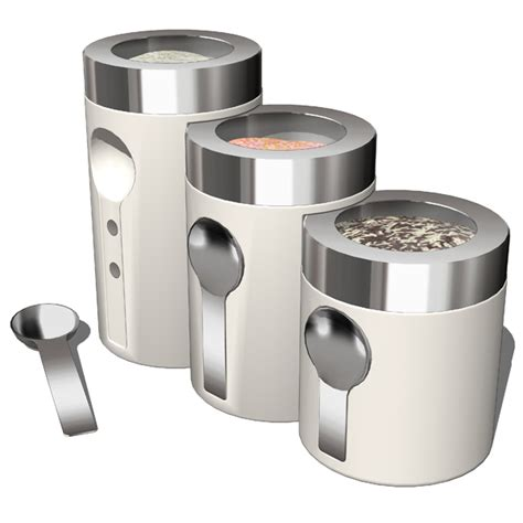 contemporary kitchen canisters kitchen accesories 02 3d model formfonts 3d models