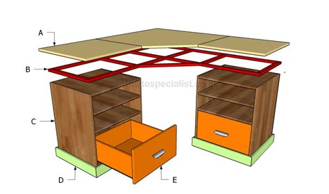 how to build an l shaped desk from scratch how to build a corner desk howtospecialist how to