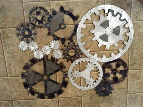 gears art industrial steampunk wall decor   order