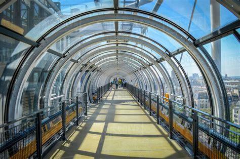 Glass tunnel at the Centre Pompidou, Paris, France ...