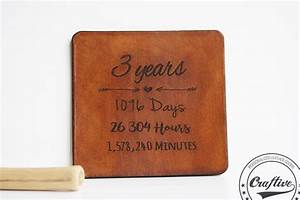3rd anniversary gift leather coasters With traditional gift for 3rd wedding anniversary