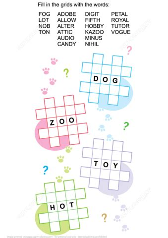 criss cross word puzzle  printable puzzle games
