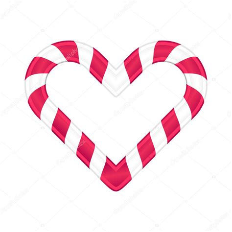 Checkout other candy cane heart vectors with different styles in svg vector library. Christmas candy as heart vector illustration — Stock ...