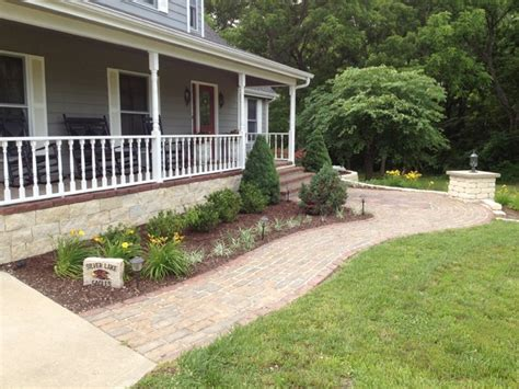 landscaping in front of porch front porch make over traditional porch kansas city by landmark landscape and construction