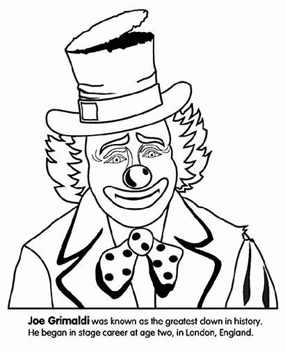 Clown Coloring Crayola Pages Happy