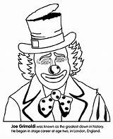Clown Coloring Print Crayola Pages sketch template