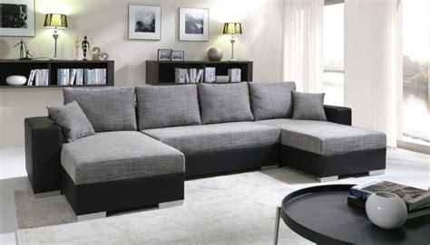 rue du commerce canapé convertible meublesline canapé d 39 angle convertible 5 places enno gris